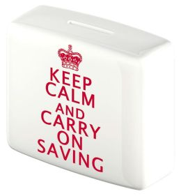Keep Calm and Carry On Saving Money Box - Bank