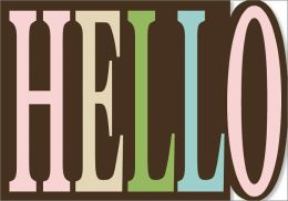 Hello Die-Cut Note Card Set of 10