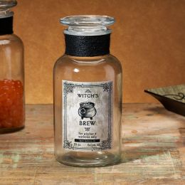 Witch's Brew Glass Potion Bottle 7''