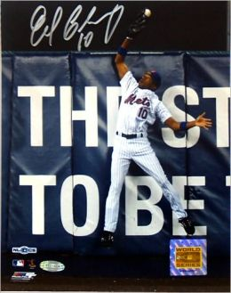 New York Mets, Endy Chavez Autographed 2006 NLCS Game Seven Robbing Home Run 8x10 Photograph