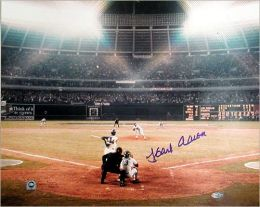 Autographed Hank Aaron 715th Home Run16x20 Photograph