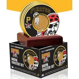 Pittsburgh Pirates Coasters with Game Used Dirt - Set of 4