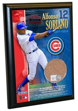 Alfonso Soriano, Chicago Cubs - 4x6 Plaque with Game Used Dirt