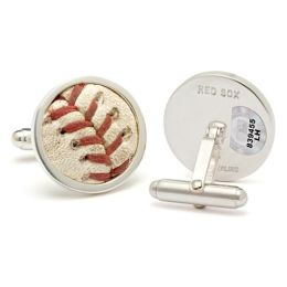 MLB Authenticated Game Used Boston Red Sox Baseball Cuff Links