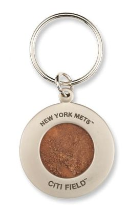 New York Mets Keychain with Game Used Authentic Field Dirt