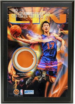 Jeremy Lin New York Knicks 4x6 Game Used Net Plaque