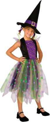 Light-Up Rainbow Witch Child Costume: Large