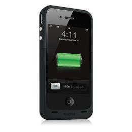 Mophie Juice Pack Plus Rechargeable Battery Case for iPhone 4 - Black