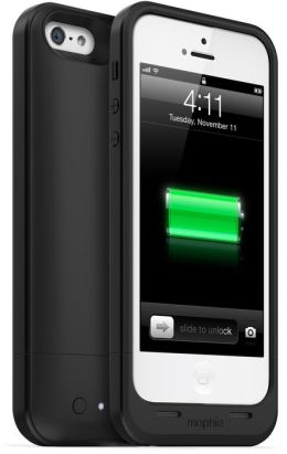 mophie Juice Pack Air Rechargeable External Battery Case for iPhone 5/5s - Black