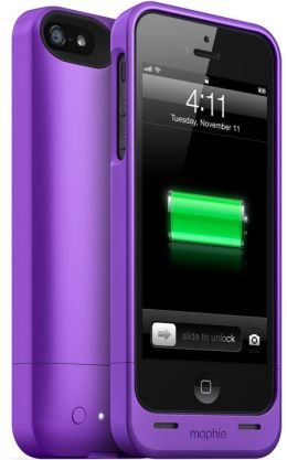 Mophie Juice Pack Helium Rechargeable External Battery Case for iPhone 5/5s - Purple