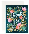 Product Image. Title: Midnight Garden Thank You Note Card Set of 8
