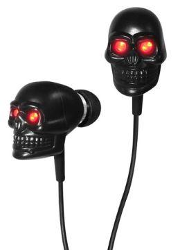 Black Skull Earbuds