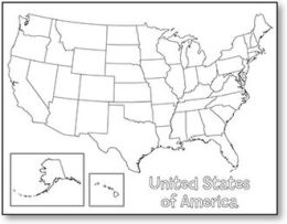 Hygloss Products Inc. HYG30147 United States Map Poster