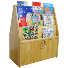 A+ Childsupply F8128 Double Sided Birch Bookshelf with Cabinet