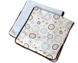 Caden Lane 1BCDBURP Classic Blue Circle Dot 2 Pieces Burp Cloth Set