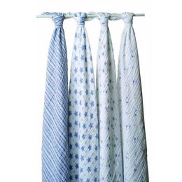 Aden + anais cotton muslin swaddles, 4 pack, prince charming