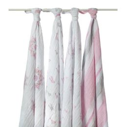 aden + anais 100% cotton muslin swaddle, 4 pack, for the birds