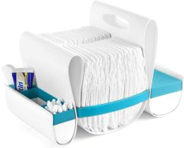 Boon, Inc. Loop Diaper Caddy, Blue and White
