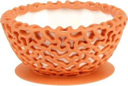 Boon, Inc. Wrap Protect Bowl Cover, Tangerine