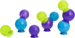 Boon, Inc. Bubbles Suction Cup Bath Toys, Multicolor Blue