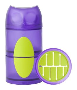 Boon, Inc. Owl Snack Stack Container, Purple and Green