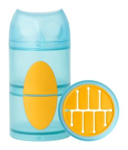 Boon, Inc. Owl Snack Stack Container, Blue and Orange