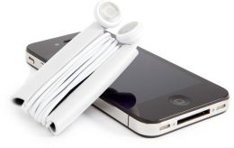 Quirky Wrapster Earbud Cord Management System - White