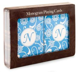 Monogram Letter N Double deck Playing Cards