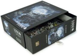 1,000 Piece Puzzle - Moon Wolf - Al Agnew