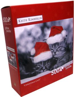500 PC PUZZLE - CHRISTMAS CATS - KEITH KIMBERLIN