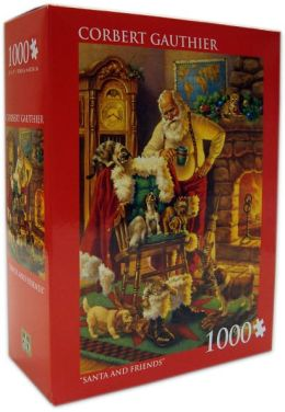 Corbet Gauthier Santa and Friends 1000 Piece Puzzle