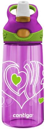 Contigo Kids Love Pink Autospout Water Bottle 14 oz.