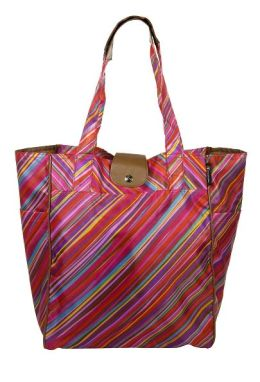 Malibu Eco Folding Tote Bag, Neon Chalk