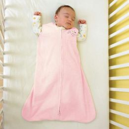 Halo SleepSack wearable blanket, 100% polyester microfleece, size medium 16-24 lbs, soft pink