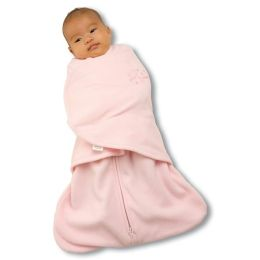 Halo Innovations SleepSack Swaddle Micro Fleece Pink -  Newborn