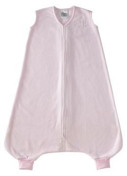Halo SleepSack Early Walker wearable blanket, 100% polyester microfleece, size large 12-18 mos, soft pink