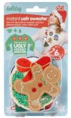 Product Image. Title: Instant Ugly Holiday Sweater Kit, Set of 6 Patches