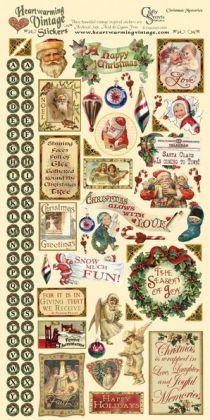 Heartwarming Vintage Cardstock Stickers 6