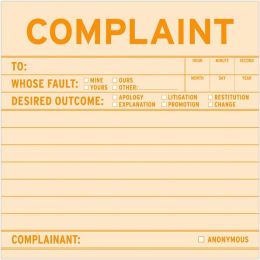 Complaint Sticky Note 100 Sheets