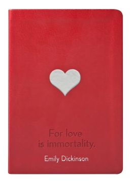 Red Emily Dickinson Quote Flexi Bound Lined Journal 5 1/2 x 8
