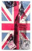 Product Image. Title: Union Jack Big Ben Small Note Pad