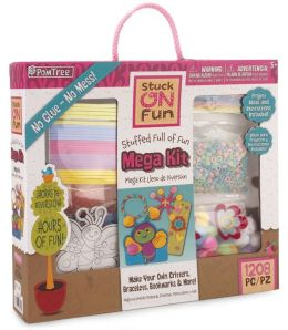 PomTree Mega Craft Kit Small Box Poms Chenille Stems Wiggle Eyes Stickers and So Much More.