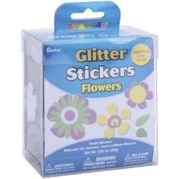 Foam Glitter Stickers 1.05 Ounces-Flowers