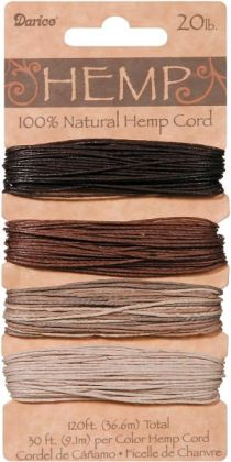 Hemp Cord 20# 120 Feet/Pkg-Earthy