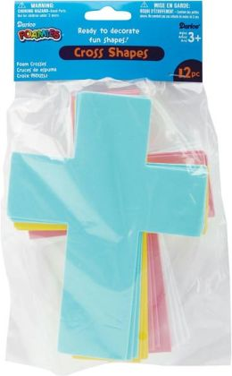 Foam Shapes 12/Pkg-Crosses