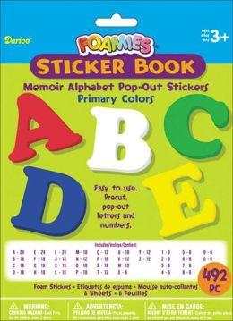 Foam Pop-Out Sticker Book 492/Pkg-Memoir Alphabet-Primary