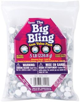 Rhinestone Shapes 1/2 Pound-Round Crystal AB