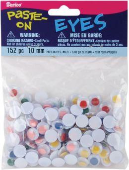 Paste On Wiggle Eyes 10mm 152/Pkg-Multi