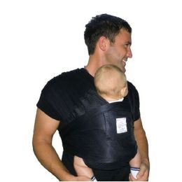 Baby K''tan Breeze Baby Carrier (Black)-Large