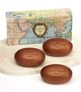 Sandalwood Woodgrain Soap Bars in Gift Box Set of Three